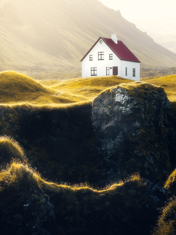 House with a view at Arnarstapi on Iceland.