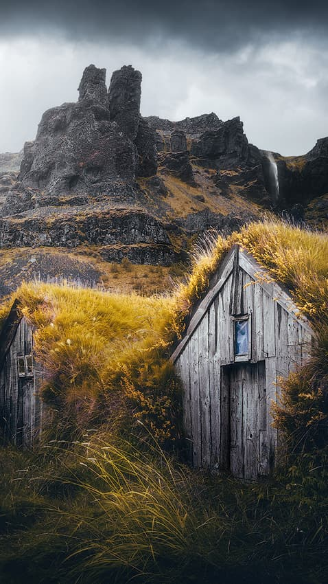 Turf house on Iceland