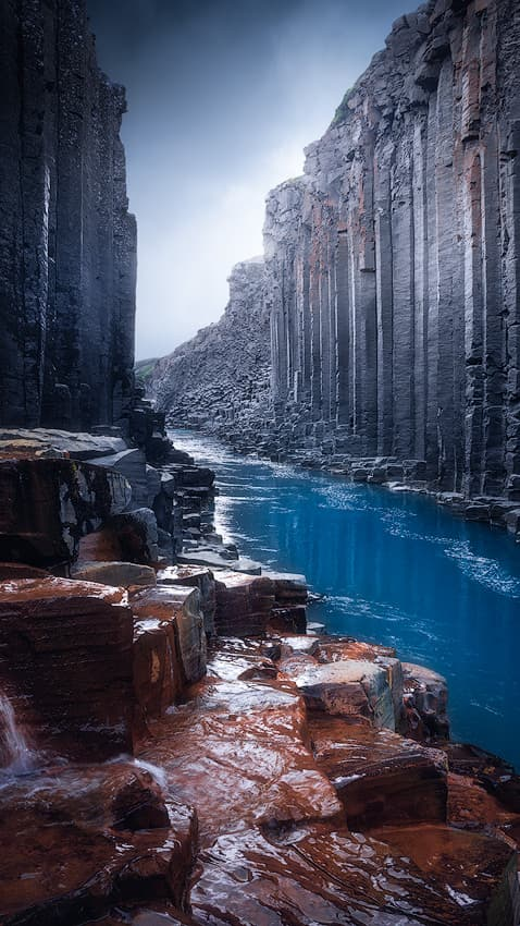 Studlagil canyon on Iceland