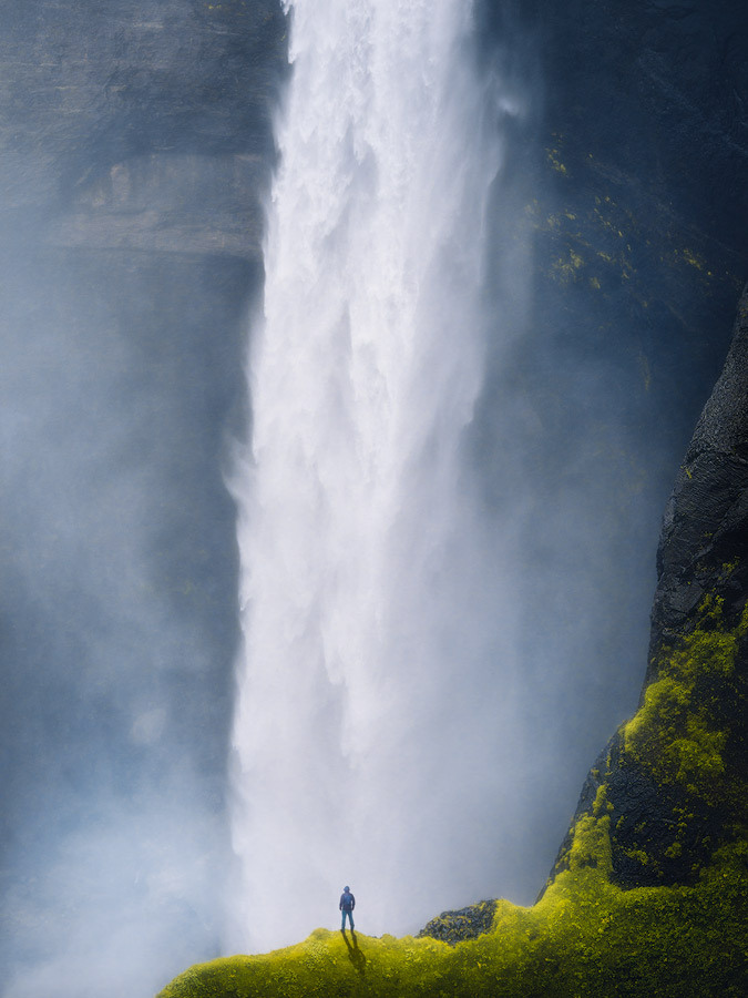 Haifoss waterfall on Iceland.