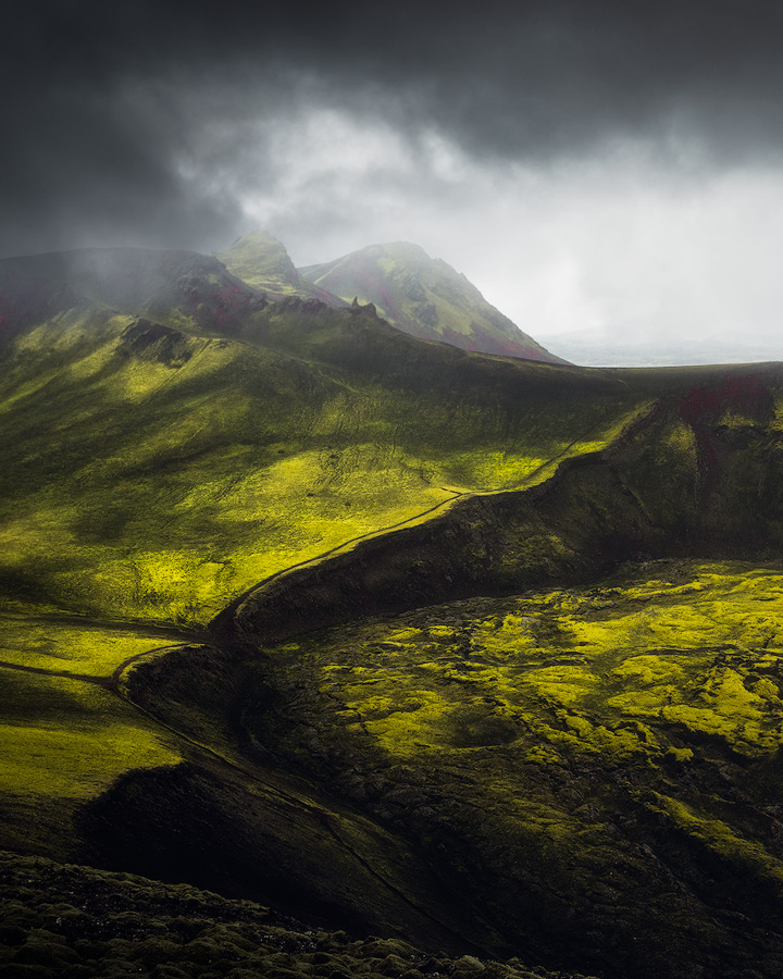 The wild nature of the Icelandic highlands.