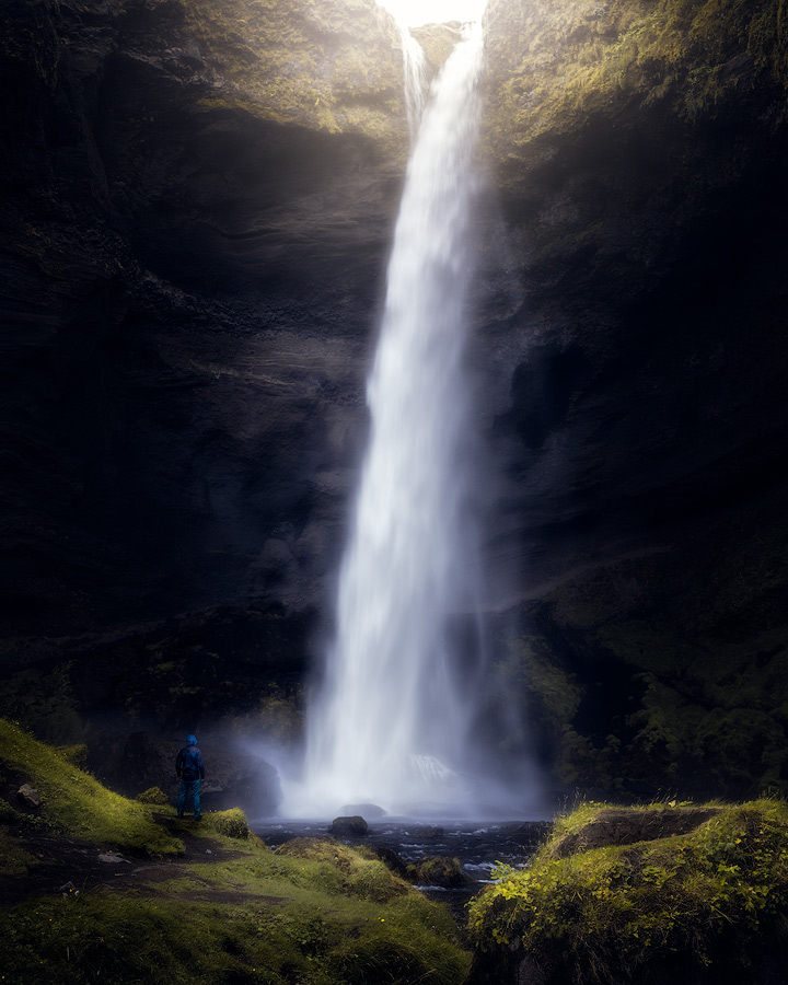 Kvernufoss waterfall on Iceland