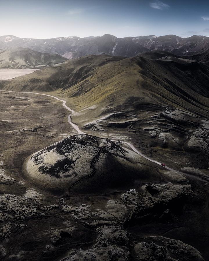 Stutur crater in Landmannalaugar