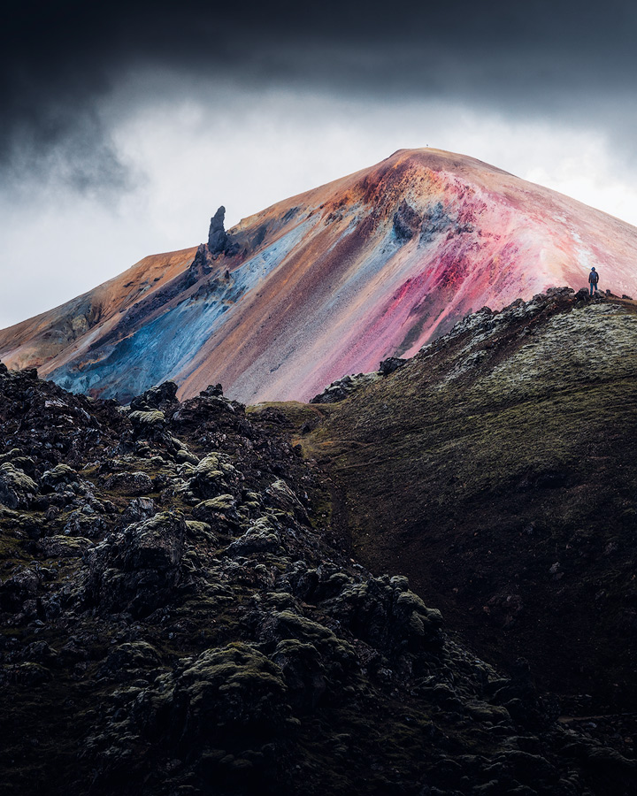 Rainbow mountain in Landmannalaugar on Iceland.