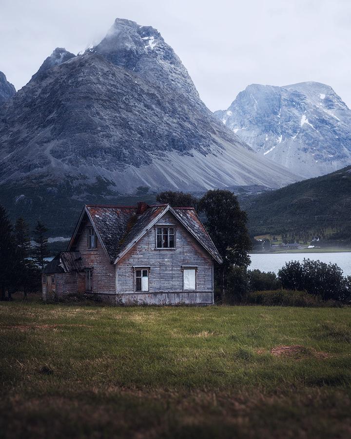 Old house in Lyngsalpene, Norway