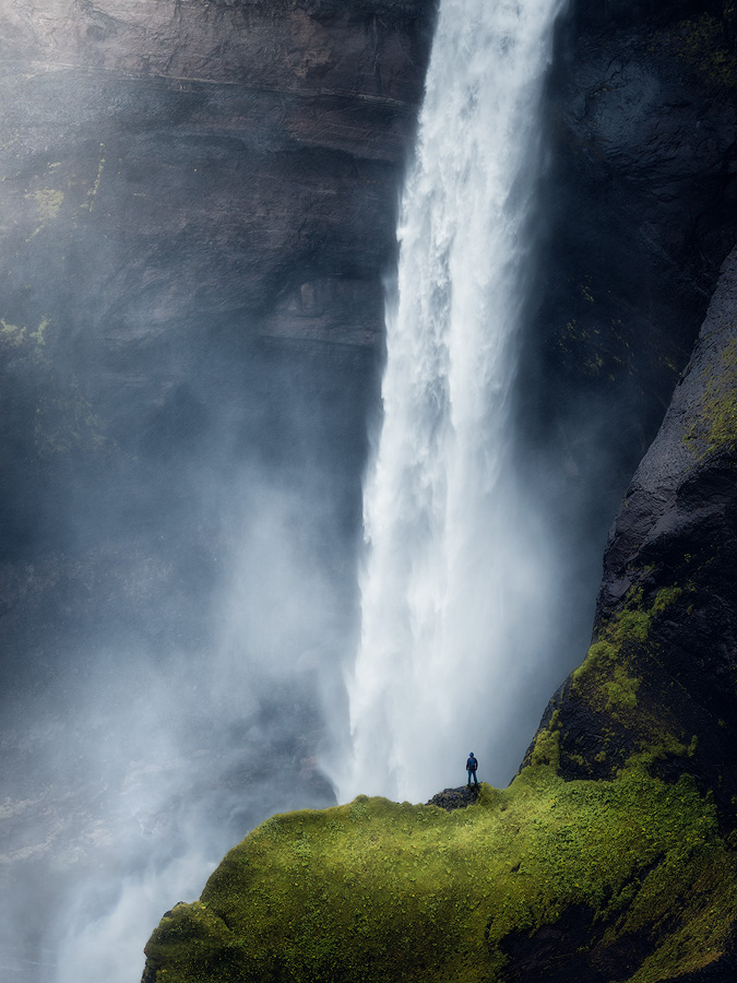 Haifoss waterfall on Iceland