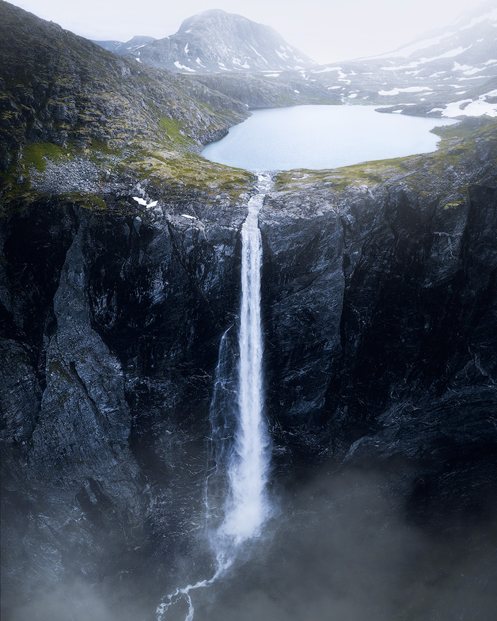 Mardalsfossen waterfall in Norway