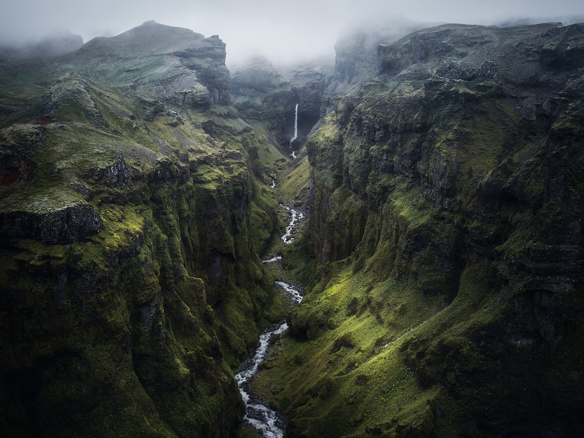 Mulagjufur canyon on Iceland