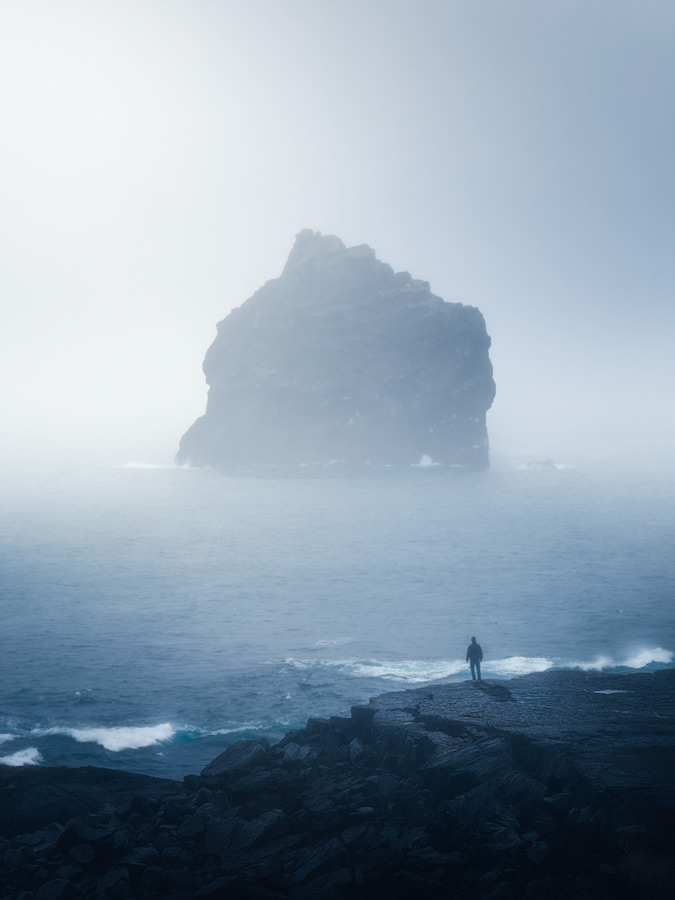 Misty day at Reykjanes on Iceland.