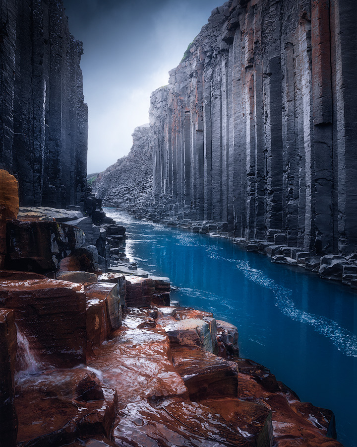 Studlagil canyon on Iceland.