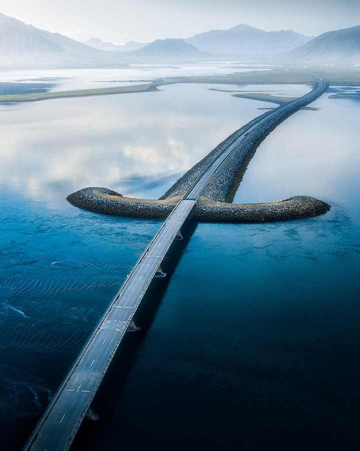 The sword bridge on Iceland