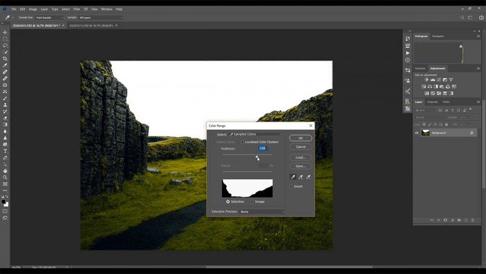 How to insert sky in Photoshop