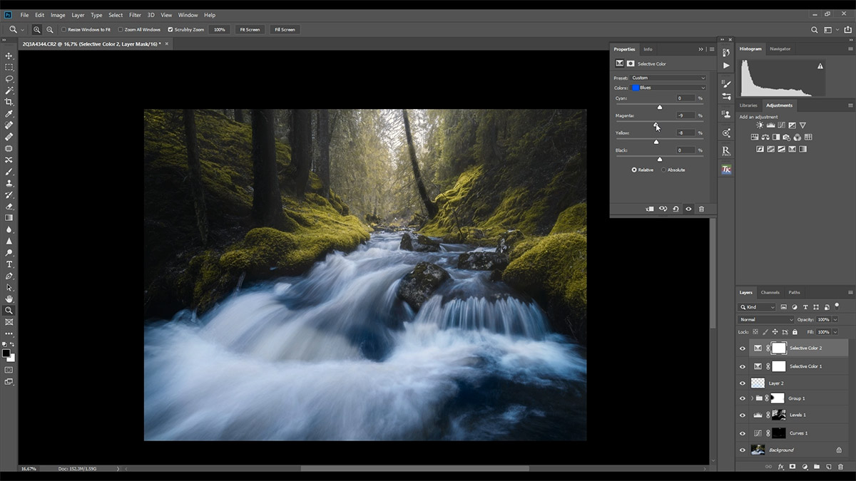Post-processing tutorial photography