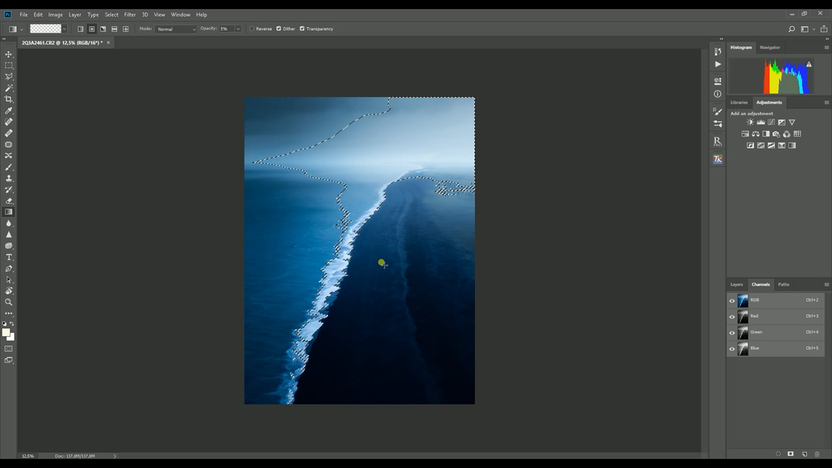 Moody post-processing tutorial in Lightroom and Photoshop