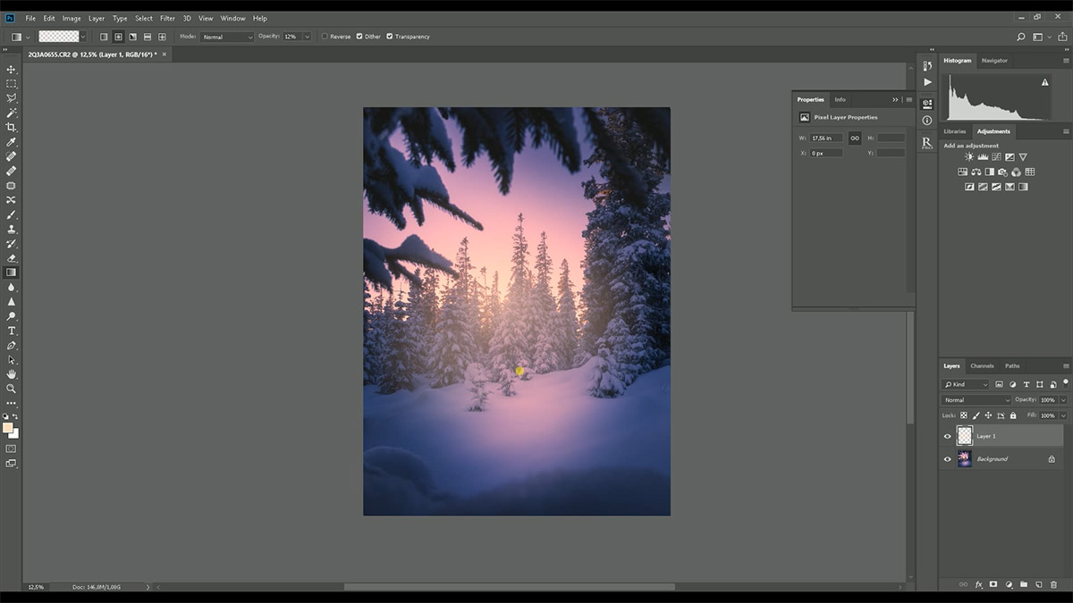 Winter post processing tutorial in Lightroom and Photoshop
